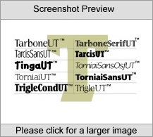 TarboneSerifUT Family PC Software